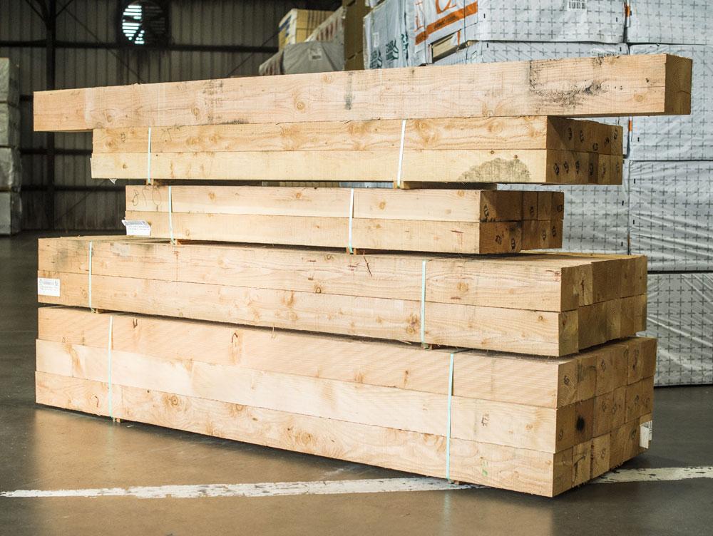 Cedar Timbers Barn Lumber